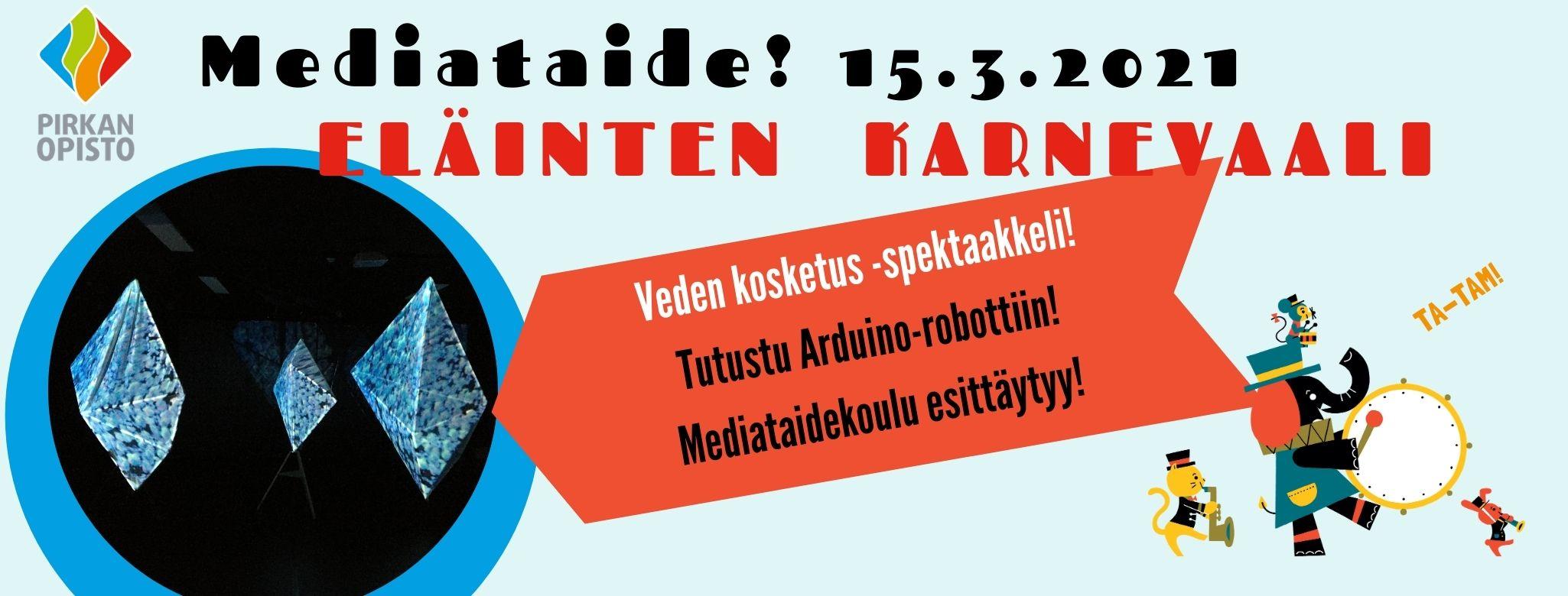 Eläinten karnevaali Mediataiteen päivä 15.3.2021