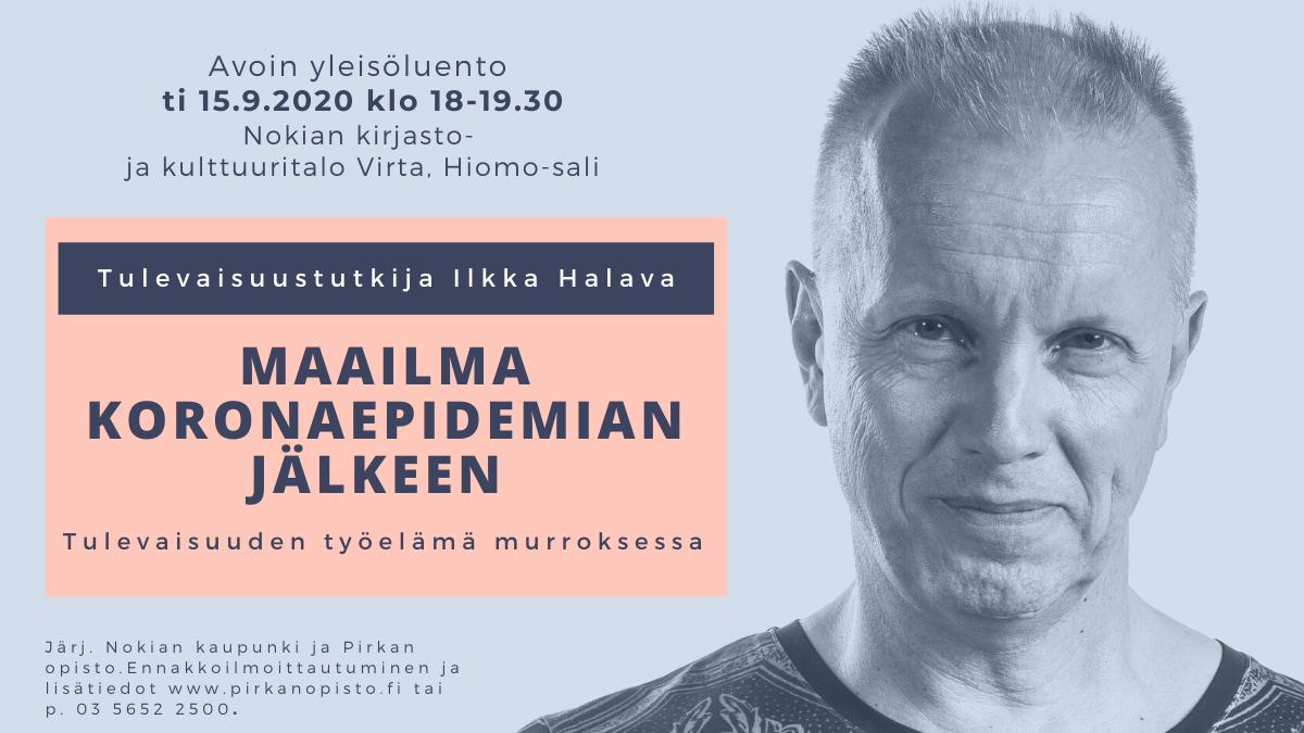 Ilkka Halavan luentomainos