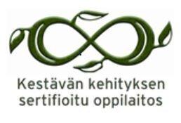 Kestävän kehityksen sertifioitu oppilaitos logo